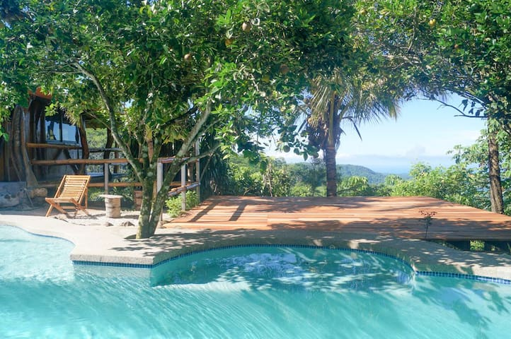 Mountaintop ocean view villa large pool yoga deck - Monte Romo - Rumah