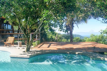 Mountaintop ocean view villa large pool yoga deck - Monte Romo