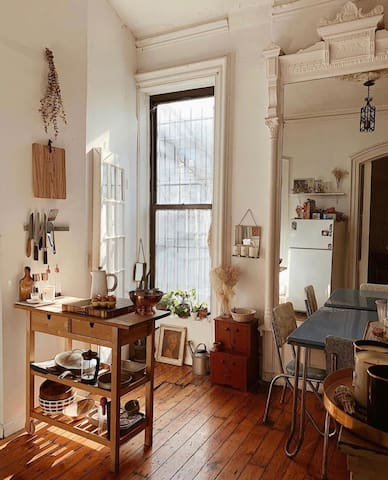 Charming  pre war brownstone loft.