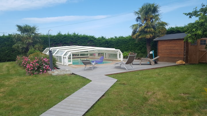 Havre de paix avec piscine 10mn du centre du MANS