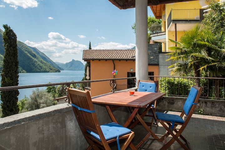 Great apartment at Lugano Lake - Cressognio, Valsolda - Pis