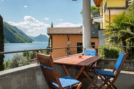 Great apartment at Lugano Lake - Cressognio, Valsolda - Apartemen