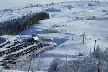 Il Monte Carpegna nella stagione invernale.