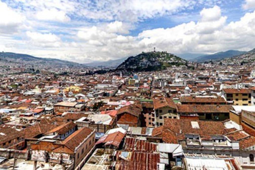 vista del casco hístorico de Quito