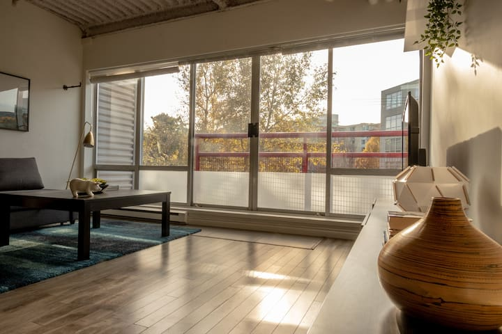 Artist loft near main street skytrain and Downtown