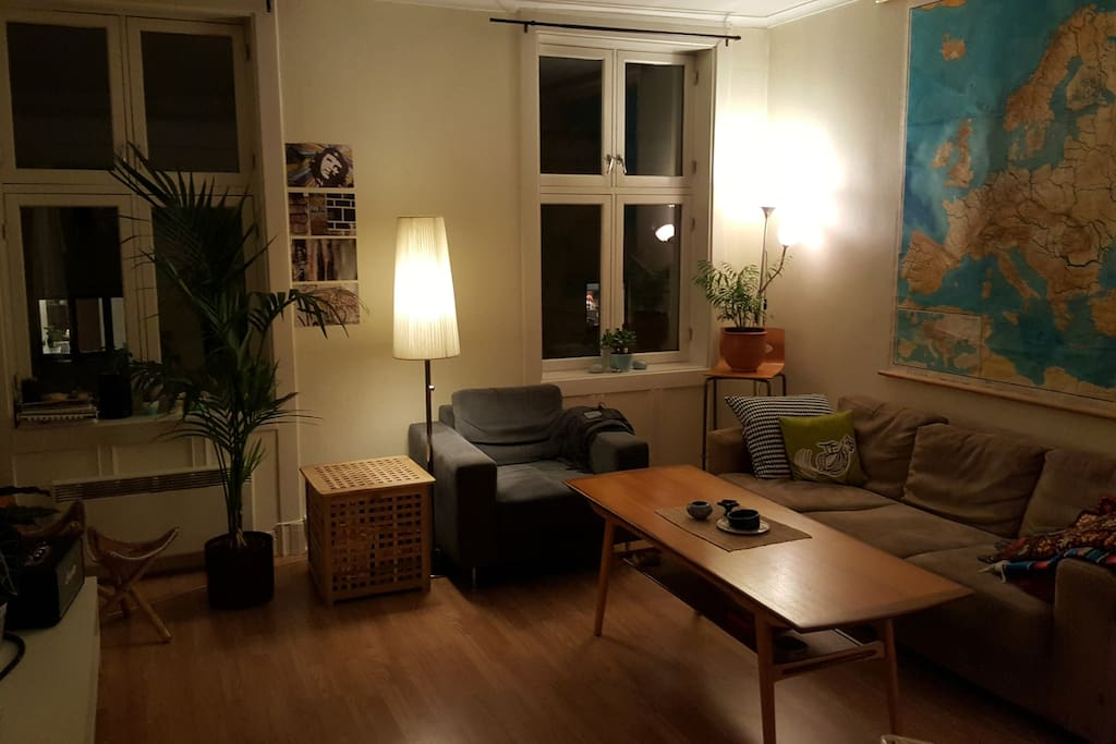 The living room has a cosy sitting area - you are free to use as much as you want