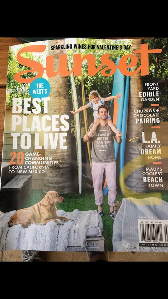 Feb. 2018 Sunset Mag has our garden!