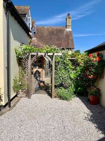 Entrance through the garden gate