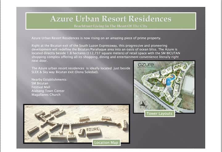 One Bedroom - Azure Residences for Rent