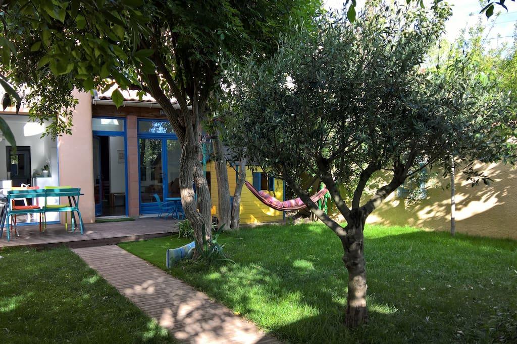 Maison chic avec jardin ultra calme proche centre h user zur miete in montpellier languedoc - Maison jardin condominium montpellier ...