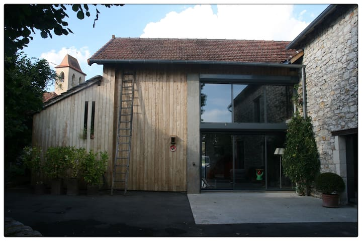 Loft contemporain jardin paisible