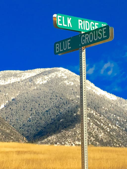 Nestled in the mountains of Idaho, the street sign says it all!
