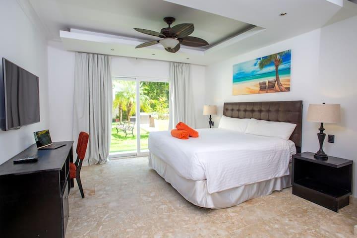 Main Bedroom. 50 inch TV.