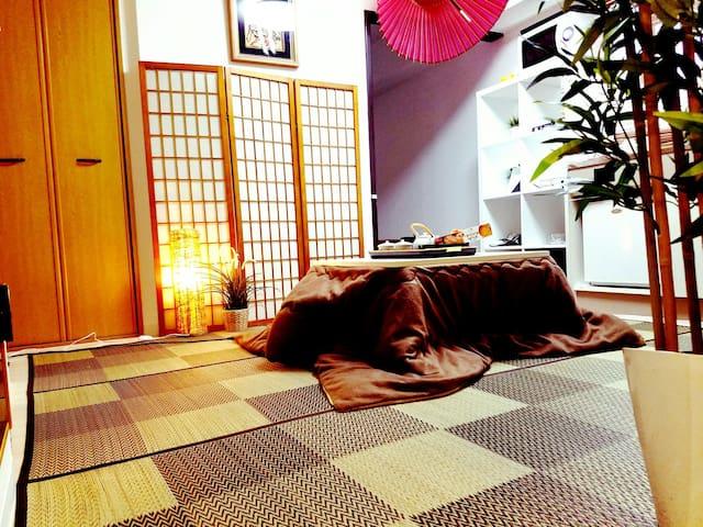 Namba, 난바 근처  교통좋고 깨끗한 일본식 큰방! - Chuo Ward, Osaka - Apartamento