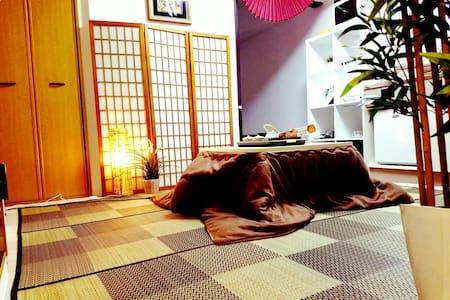 Namba, 난바 근처  교통좋고 깨끗한 일본식 큰방! - Chuo Ward, Osaka - Daire
