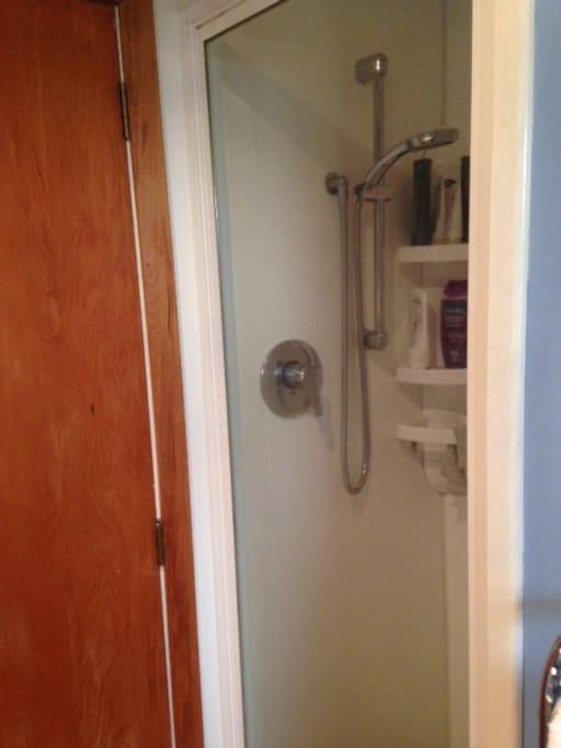 Mains pressure shower