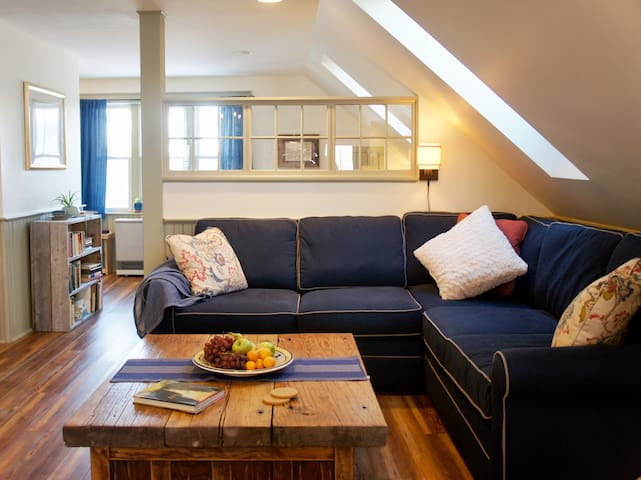 Large L sofa...plenty of space to relax!