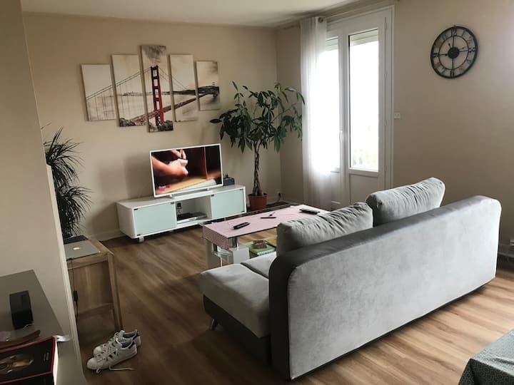 Bel appartement de 69m2, résidence calme Angers