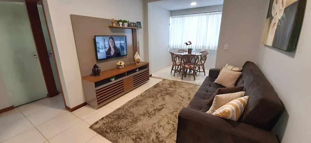 "Sala com sofá cama TV 40"", WI-FI"