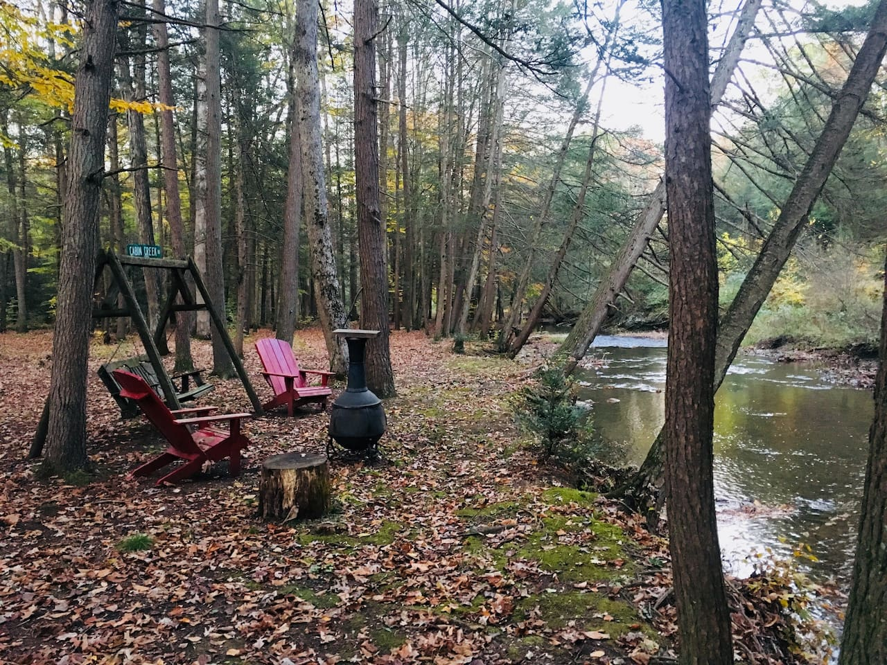 A place to relax by the creek