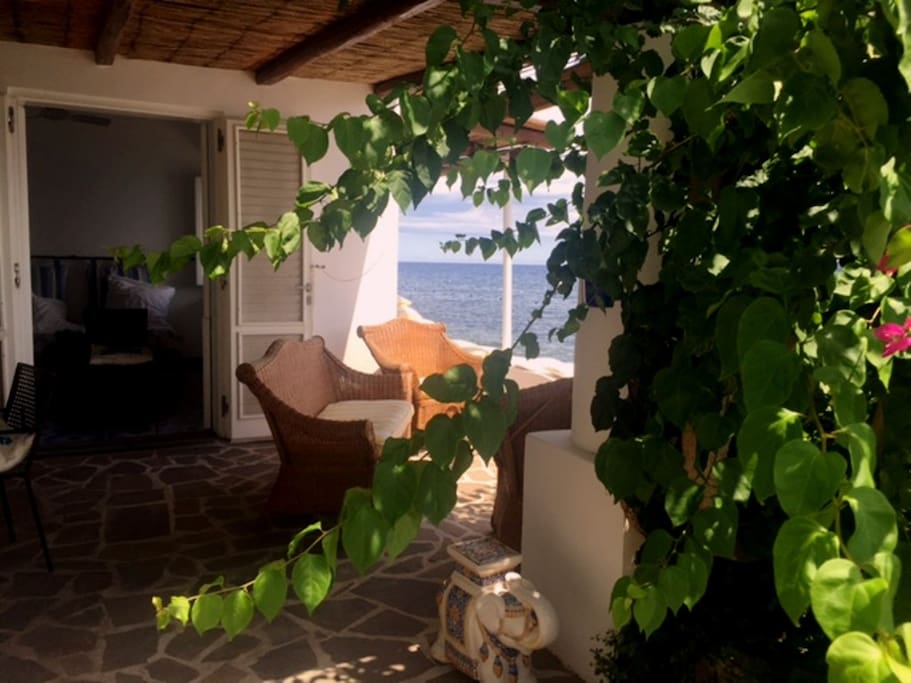 Casa Moletto - A Living with a view of Stromboli