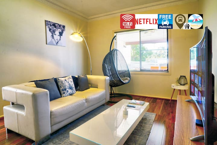 ⭐Wi-Fi/Netflix - 4k Curve TV/Electric bed/Parking⭐