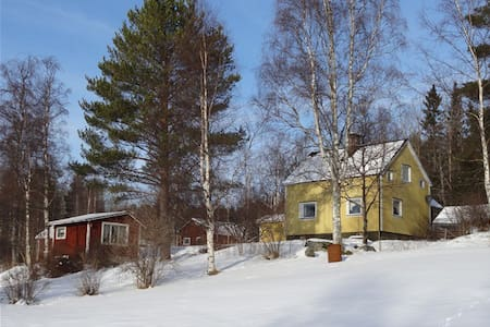 Holidayhouse with dogsledding/ice fishing and more - Näs