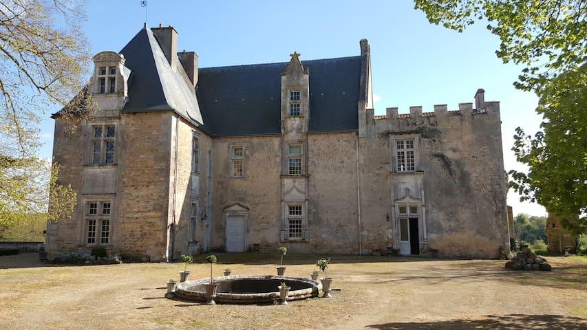 Château Montreuil Bonnin, Swimingpool, Futuroscop - Montreuil-Bonnin - Schloss