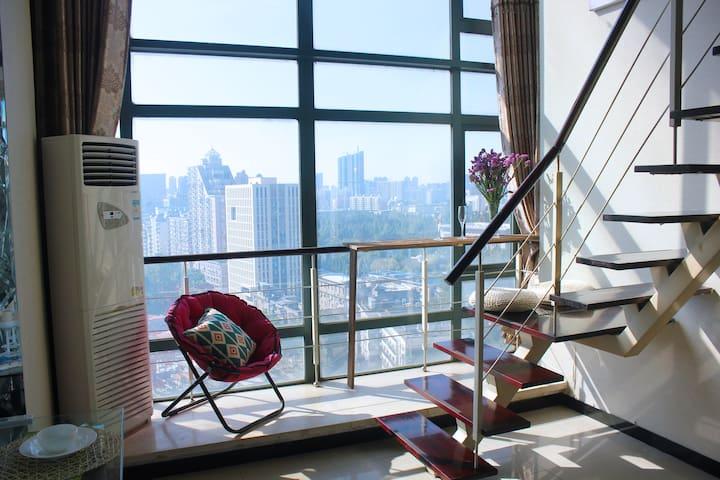 江滩/武汉天地/地铁口Subway/时髦文艺落地窗LOFT/15BR House - 武汉市 - Loft