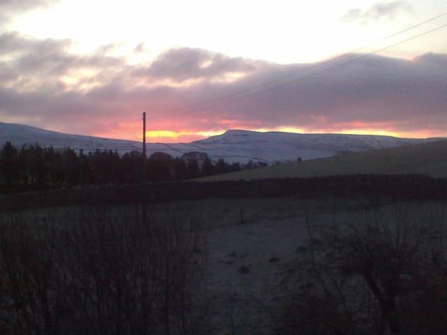 Sunrise over Mallerstang Edge