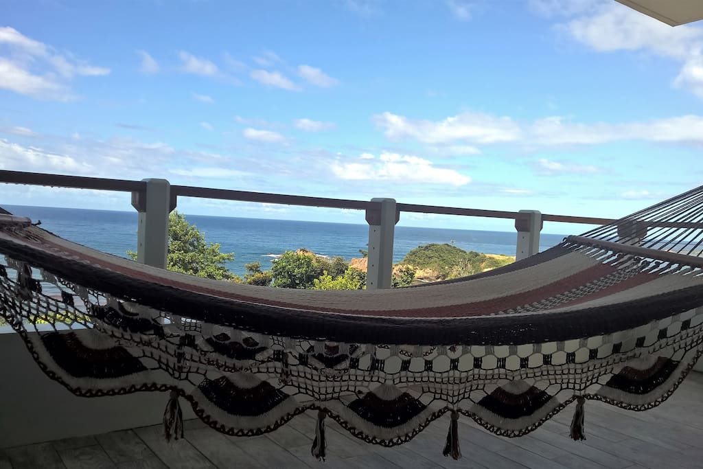 View from covered patio