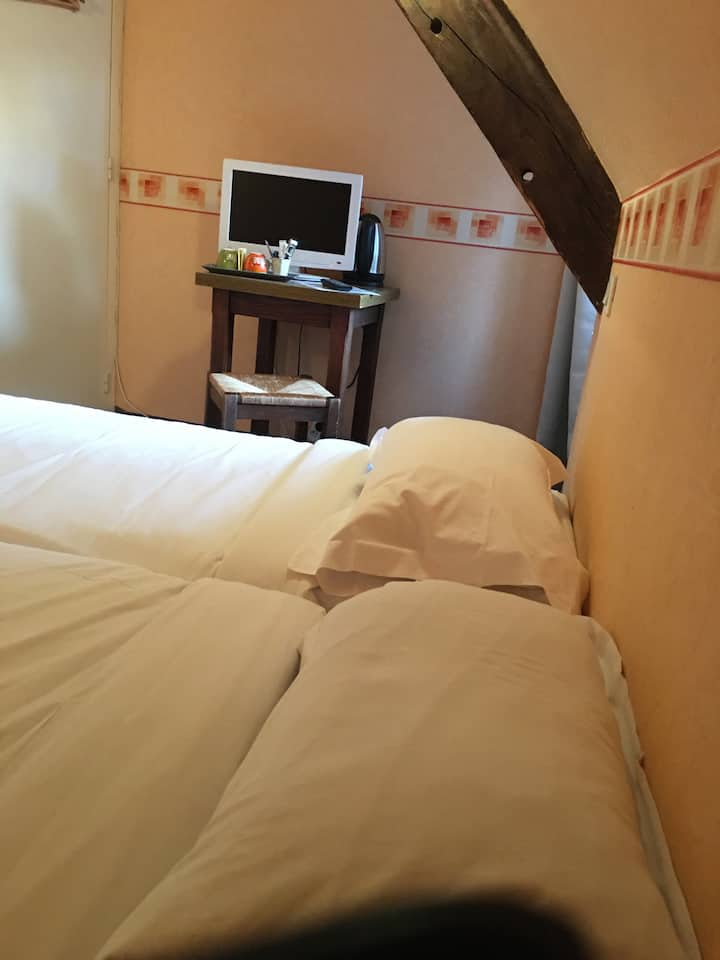 Hôtel Le Grillon chbre Twin Mont-Saint-Michel 4