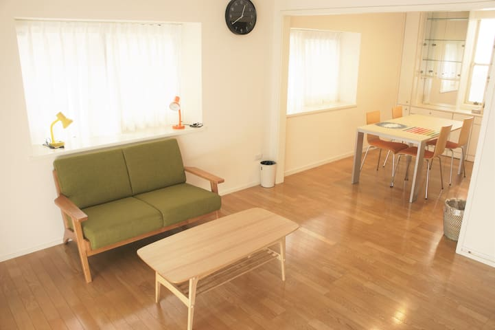 Cozy place(A),Near新宿,渋谷&walk 5mins+Free Wifi,MAX 2