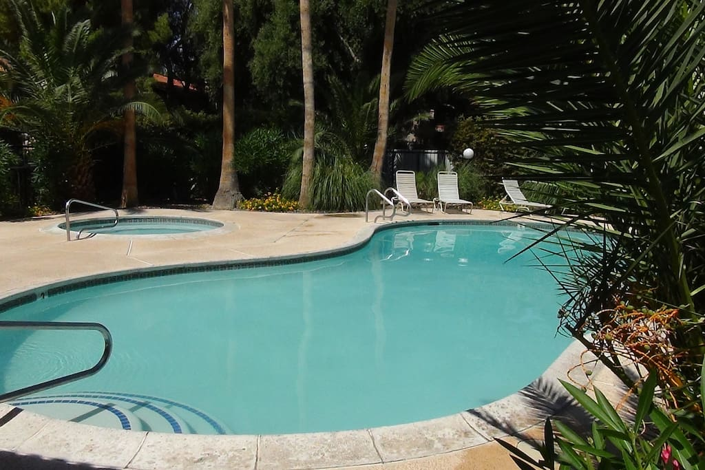 Convenient pool is perfect for lounging and enjoying the desert sun.