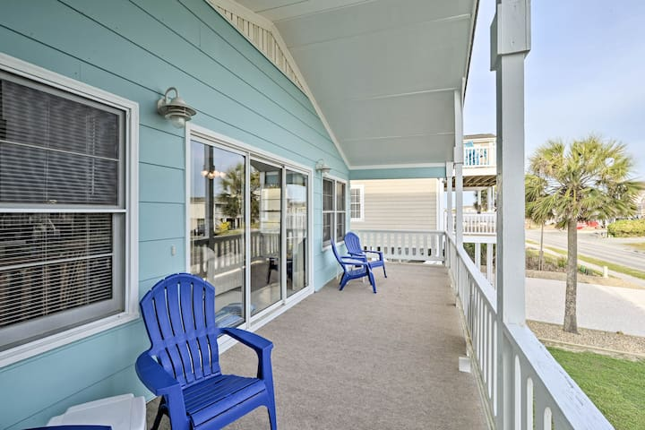 NEW! Pet-Friendly Second Row House Steps to Beach!
