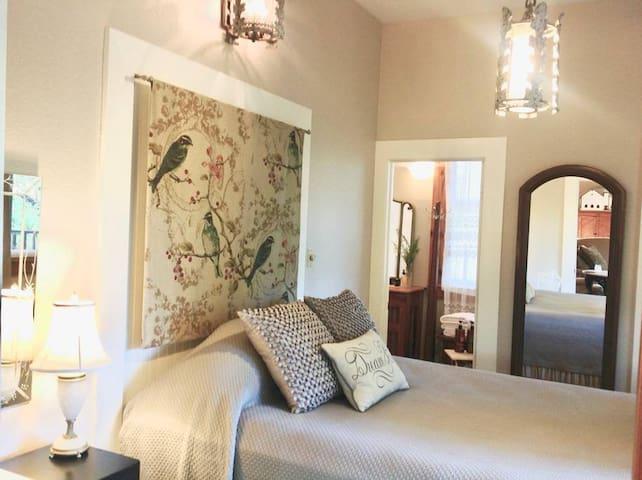 Bedroom 3: Small Bedroom with Queen Bed opens to Outdoor Deck.