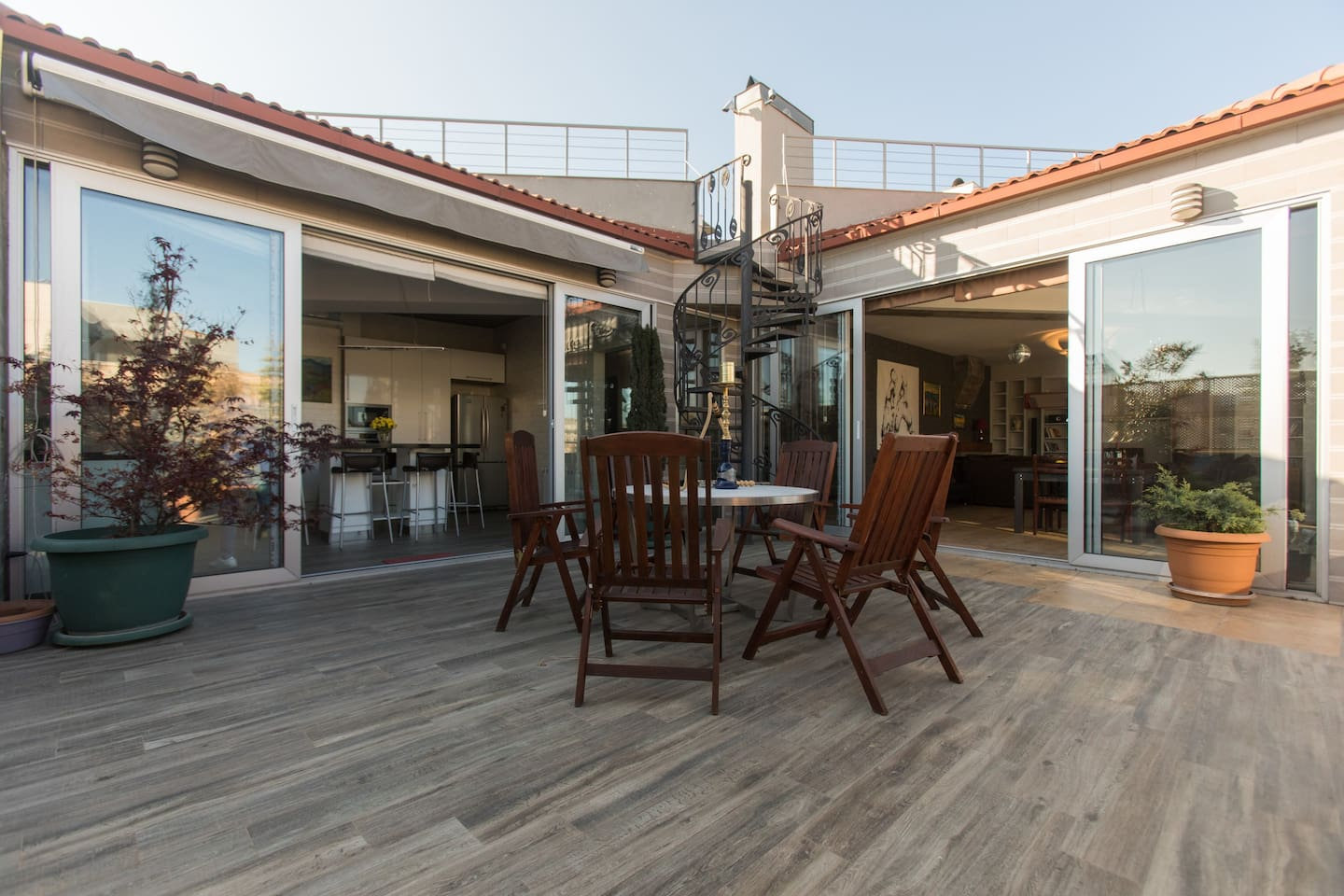 Terrace where you can have family gatherings or enjoy a cup of tea or a glass of wine in the evening;