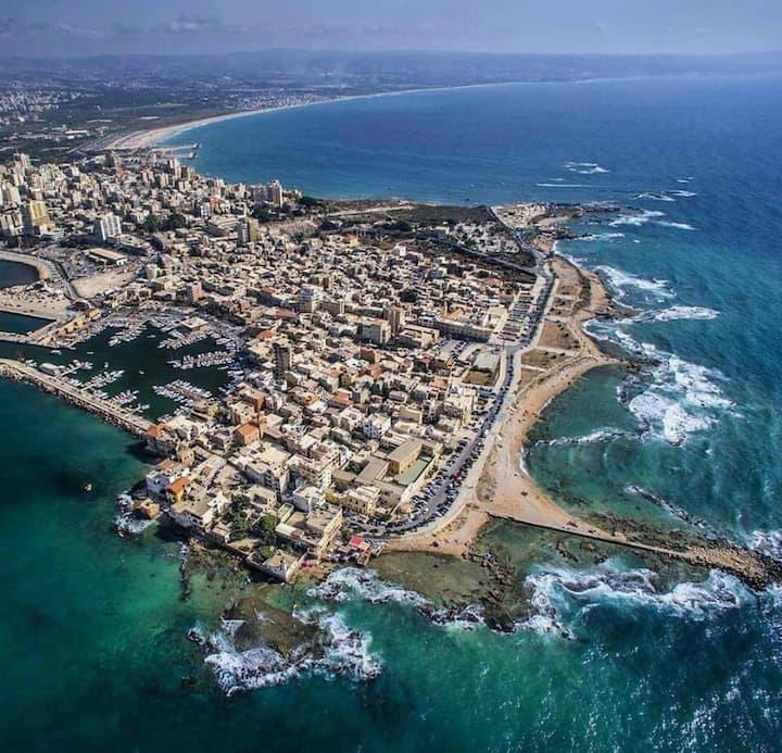 Tyre Phoenician, Big terrace ,Beach House,chalet