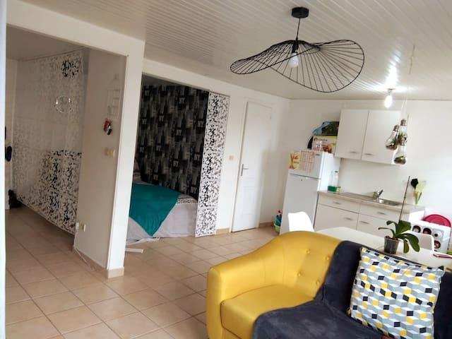 Coquet appartement F1  dans résidence privée