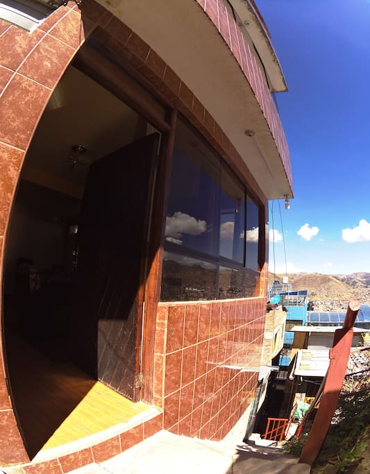 Photo of the entrance of our apartment