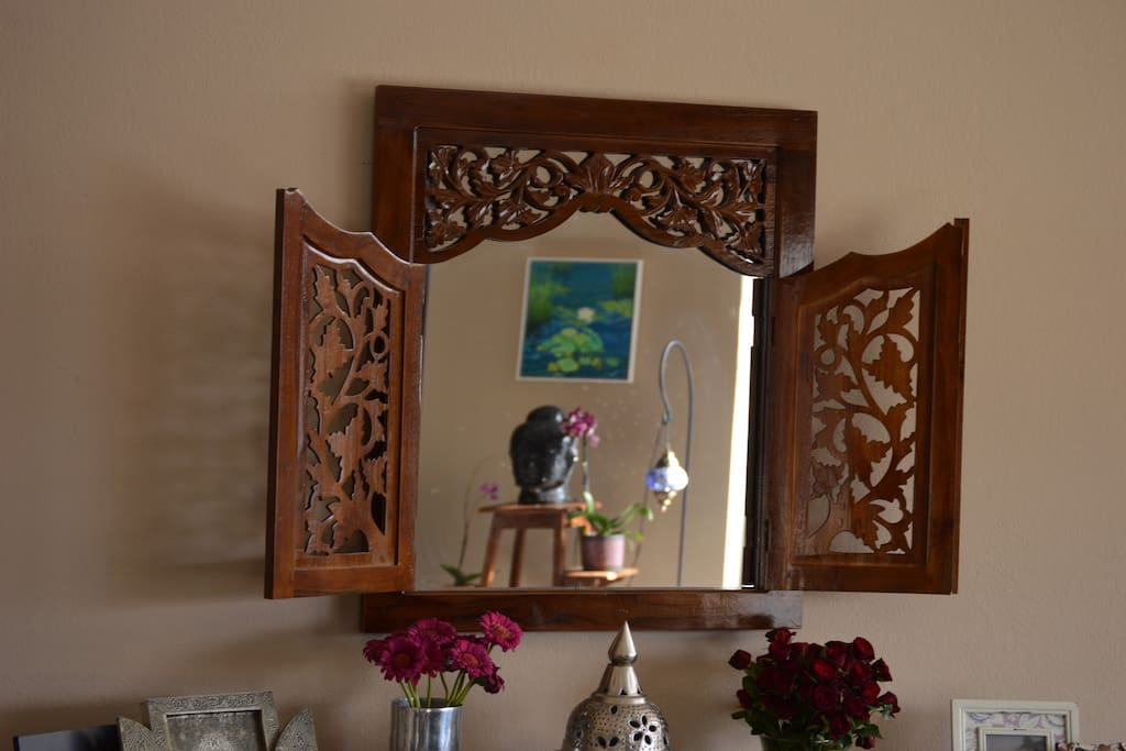 Moroccan lamps, balinese furnishings; our home is a beautiful testament to our travels...
