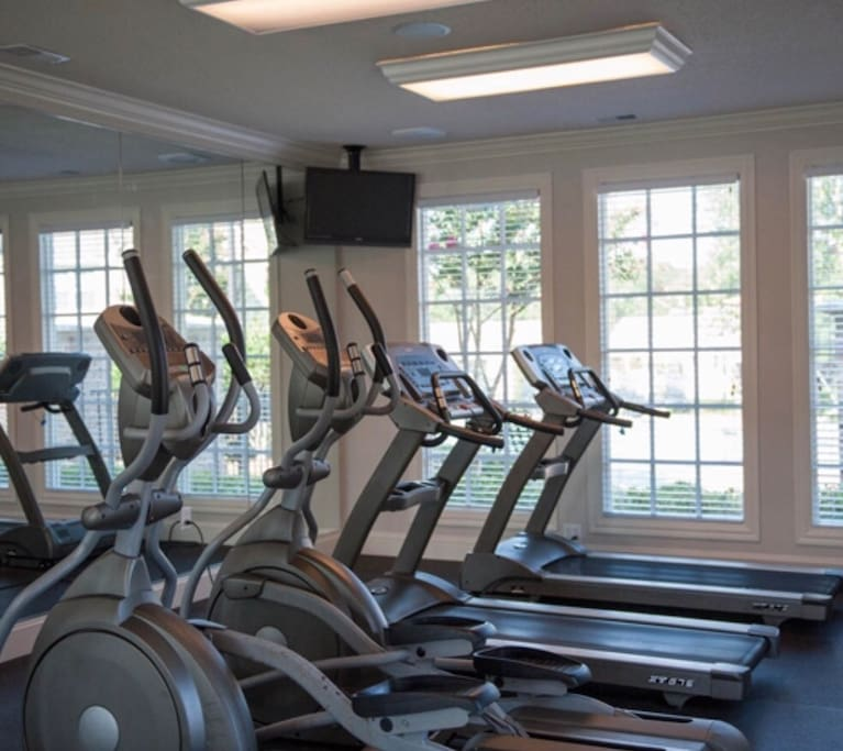 Gym area or take a run around the gated community!