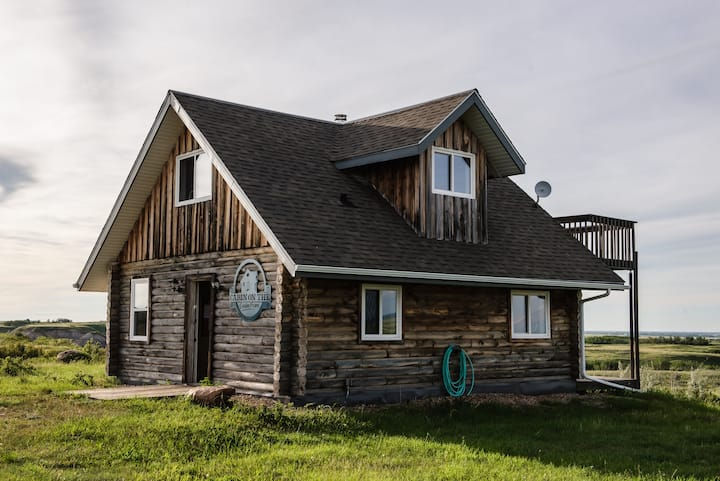 Glamping  in a Log Cabin on an Alberta Coulee