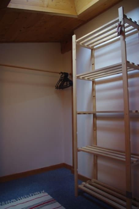 storage shelves and rack