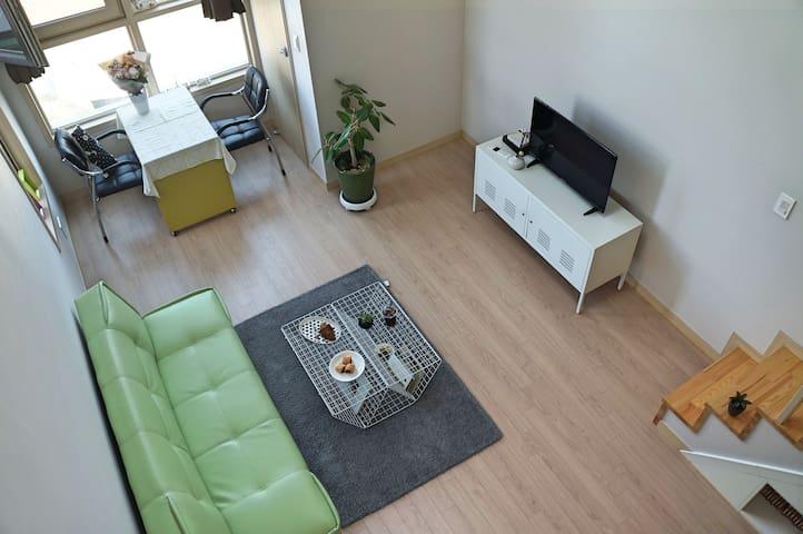 [청주슈퍼호스트]위치좋은 호텔같은 복층집 nice location,clean,new - 청주시, 충청북도, KR - Apartamento