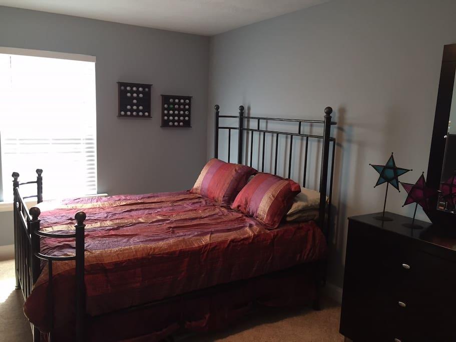 Upstairs queen bed