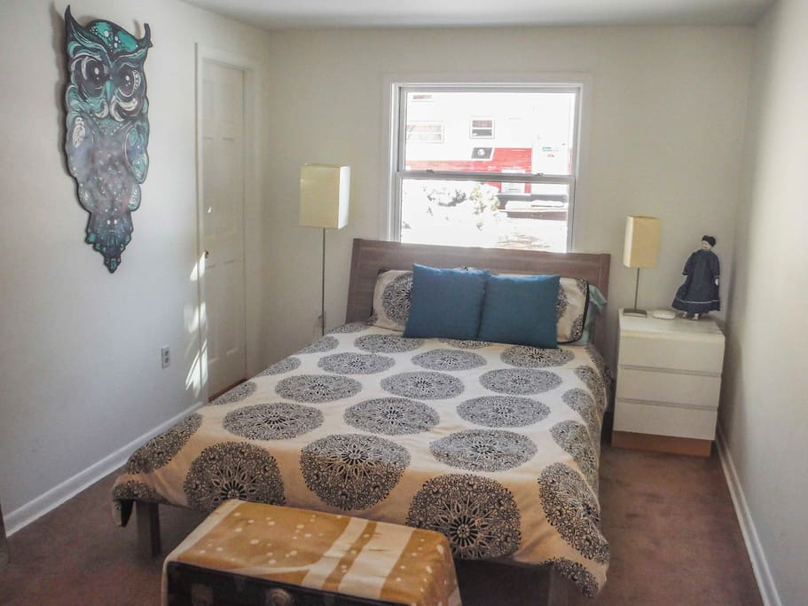 Second bedroom features queen size bed and private shower / sink / toilet.