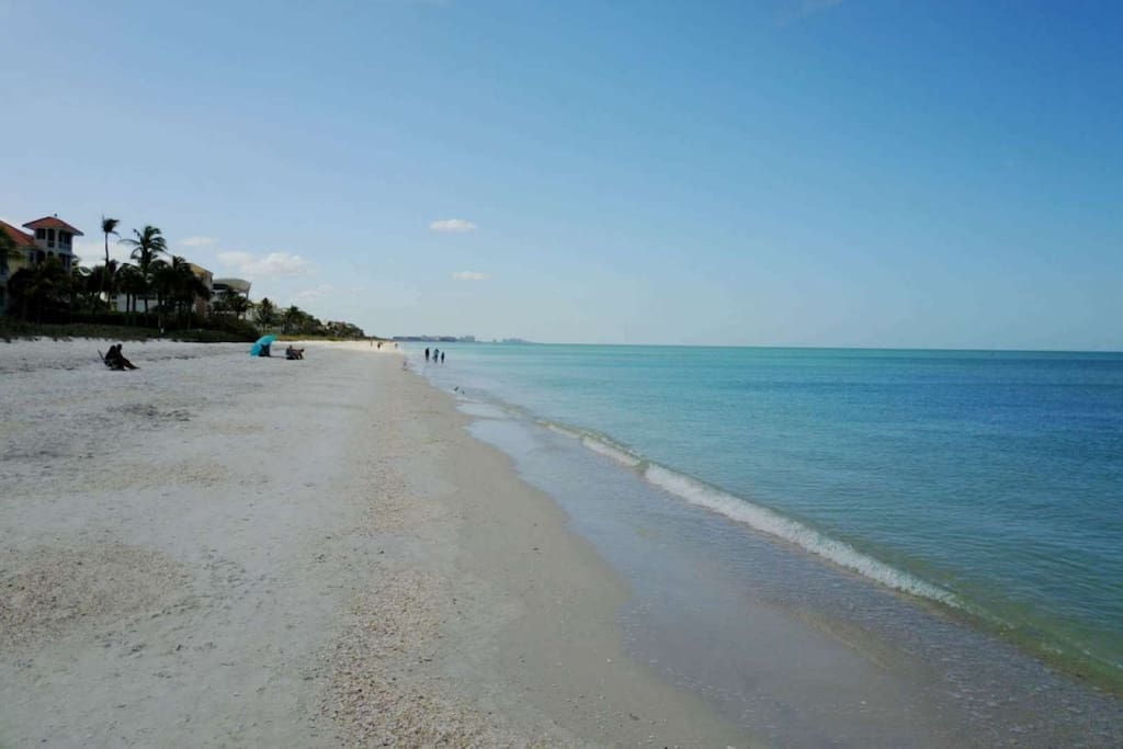 At Bonita Beach & Tennis you're steps from the pristine beach, where you can swim, walk, run, or sun till your hearts content.