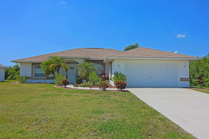 Three bedroom,two bathroom, pool home with extended lanai.