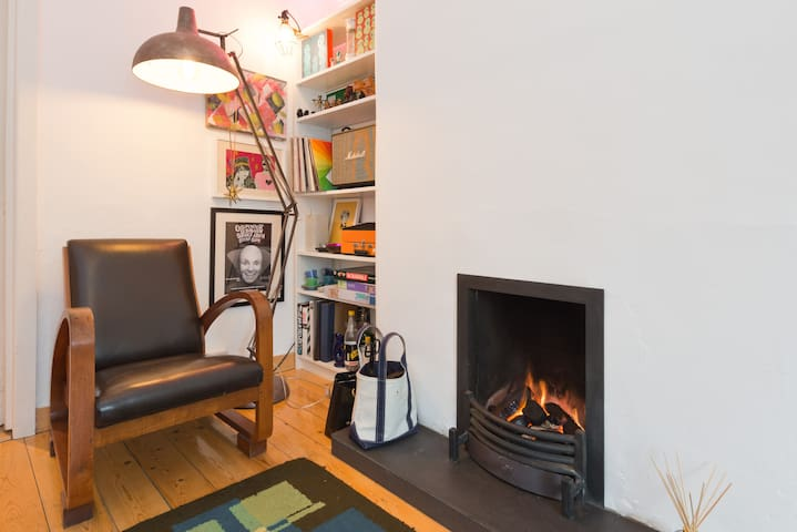 Livingroom. have a read beside the fire.